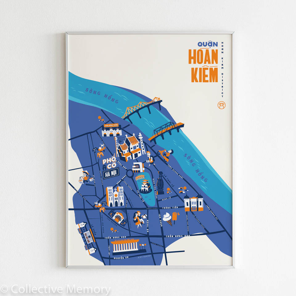 Hoan Kiem District - Art Print by Trang Trim